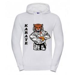 Hoodie mit Tiger Karate Motiv