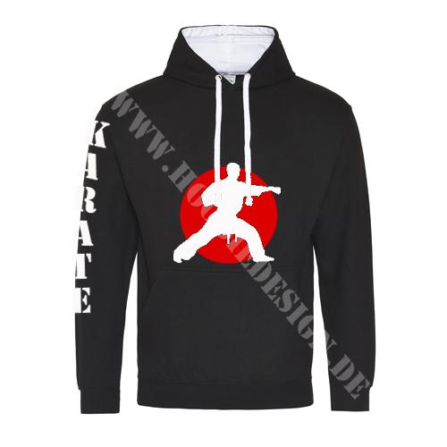 Karate_bedruckter_Hoodie_JH003-schwarz-oizucki