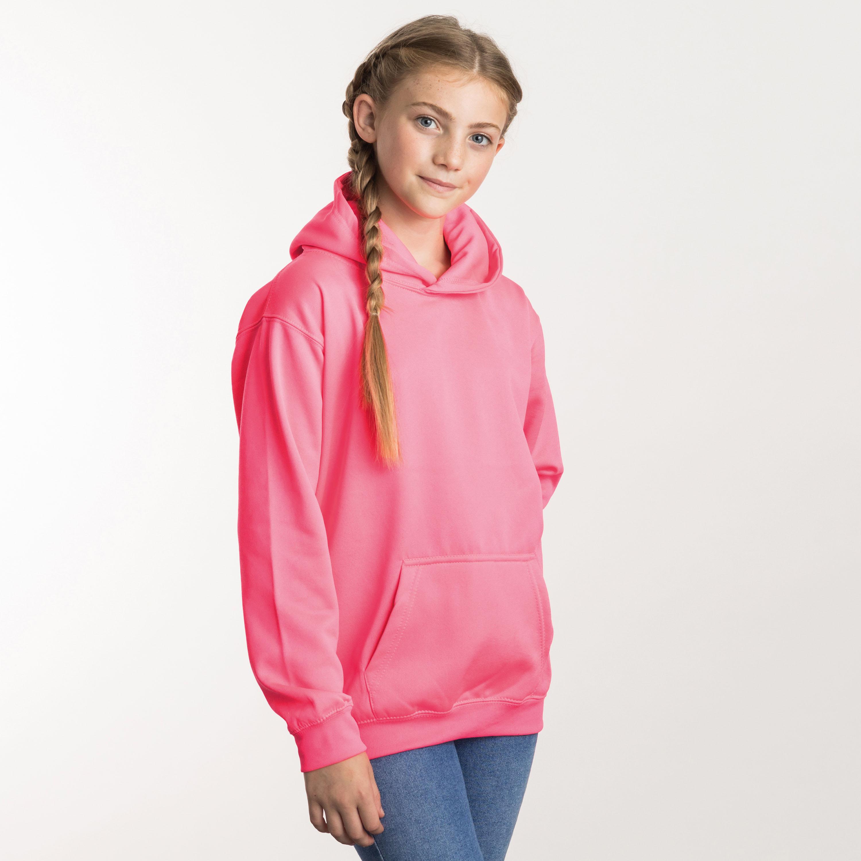 Neon Kinder Hoodie 4 Farben zum Bedrucken