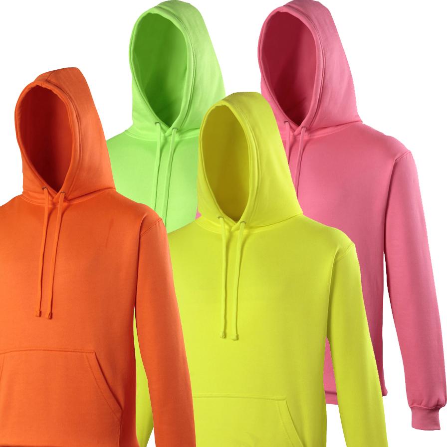 Neon Hoodie 4 Farben zum Bedrucken XS - XL