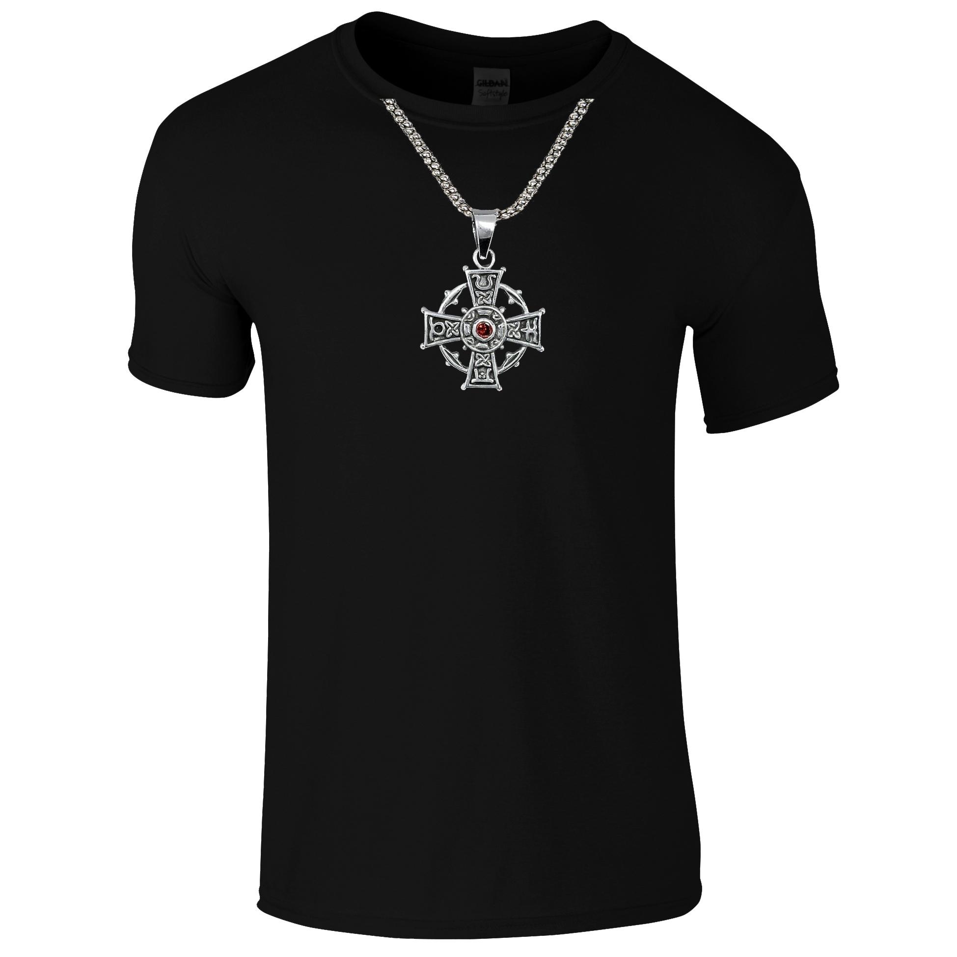Schwarzes Gothic Shirt mit Kreuz